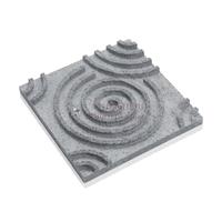 3D панель из талькомагнезита спираль 295х295