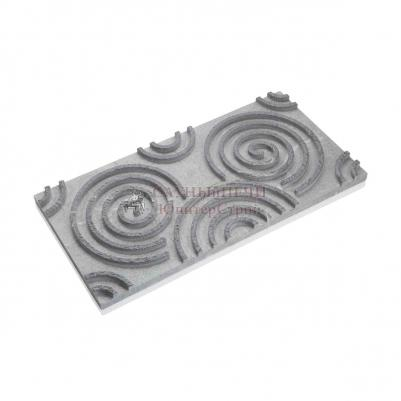 3D панель из талькомагнезита спираль 590х295