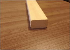 Доска на полки африканский абаш, 27х45мм, сорт экстра (Д)