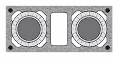 Комплект Schiedel 0,33 п.м. двуходовой с вент каналом Д=140/140, UNI, 320х720